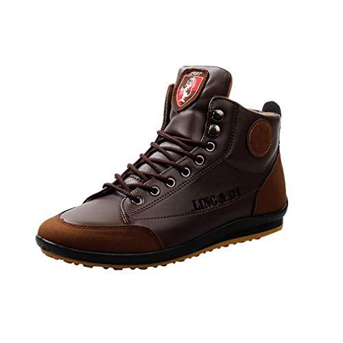 New 2018 uomo stivaletti in pelle lace up scarpe casual martin stivali uomo scarpe casual calzature