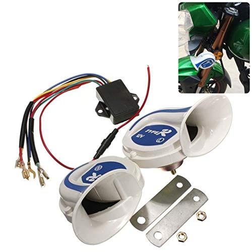 Preisvergleich Produktbild Fansport 2 Stück 12V Motorrad Hörner Praktisches wasserdichtes Mehrzweckgerät Elektrische Autohupen