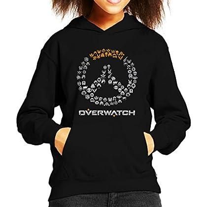 Overwatch Logo Character Heads Kid