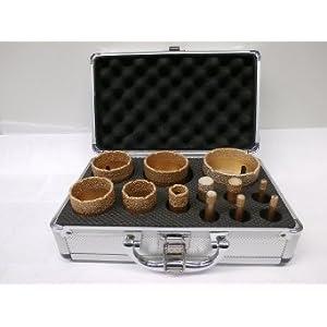 Vakuum Brazet M14 Bohrer-Set inkl. Alu – Koffer
