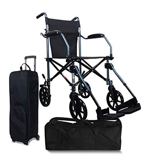 Rollstuhl-faltender Leichter Ultra Leichter Beweglicher Rollstuhl-ältere Ältere Reise-kleine Rad-Laufkatzen-Reise-Speicher-Tasche (Style : B) -