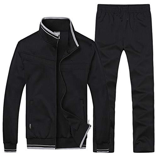 Sweatsuit Jacke Hose (Winter Sporting Suit Männer Set Jacke + Hose Sweatsuit Zweiteiler Herren Baumwolle Sportswear Trainingsanzug Kleidung)