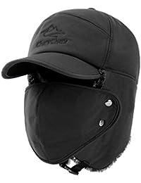 Yooeen Gorros de Aviador Hombre Mujer Sombrero de Bombardero Trooper  Trapper Sombrero de Esquí con orejera 89aebd8cd18