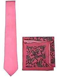 Chokore Magenta Silk Tie & Silk Pocket Square Set