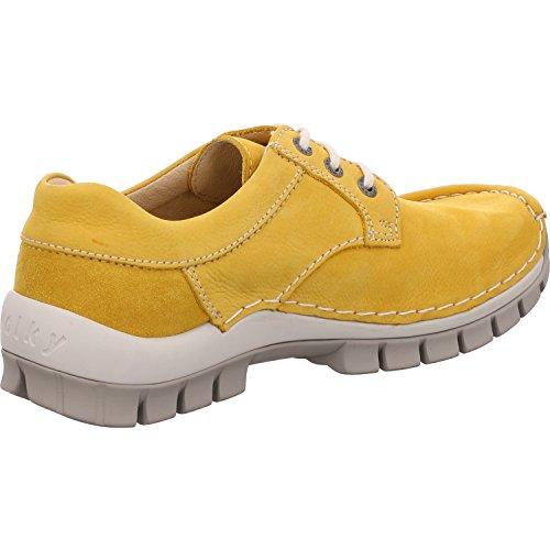 Wolky 0470810900 Seamy Fly Yellow, Scarpe Stringate Donna Gelb Nubuk