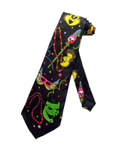 r Karneval Fasching Dienstag Krawatte - schwarz - Einheitsgröße ()