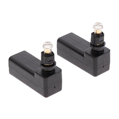 perfk 2-Pack Toslink Buchse auf optischen 3,5 mm Mini-Stecker SPDIF/TOSLINK Digital auf Analog Konverter Audio Adapter rechtwinklig 90 Grad Adapter