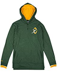 """Green Bay Packers Mitchell & Ness NFL """"Seal The Win"""" L/S Hooded Men's shirt Chemise"""
