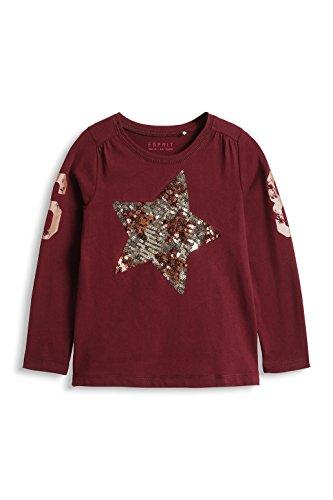 ESPRIT Mädchen Langarmshirt 085EE7K011, Gr. 128 (Herstellergröße: 128/134), Rot (BORDEAUX RED 600)