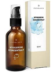 Hyaluron Konzentrat - vegan & in Braunglas - hochdosiertes Hyaluronsäure Serum - Anti-Aging Feuchtigkeitspflege Gel - Junglück natürliche & nachhaltige Kosmetik made in Germany - 50 ml