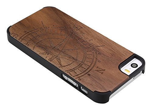 SunSmart Apple iPhone 5/5s Holz Case Schutzhülle Skin für iPhone 5 5s--14 04