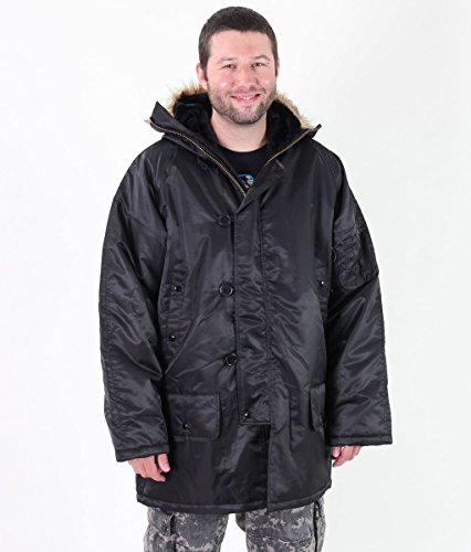 Herren Winterjacke ROTHCO - N-3B PARKA - BLACK - 9390
