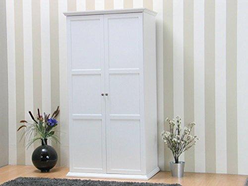 Kleiderschrank Nice 2trg. Schlafzimmer Schrank Möbel Garderobenschrank weiß