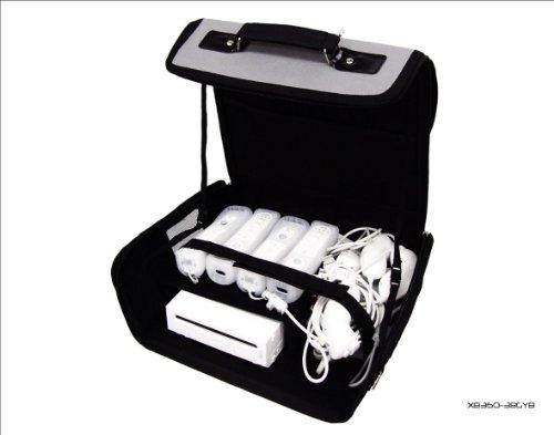 Nintendo Wii gris y negro bolsa de transporte para consola/funda. También para uso de coche.