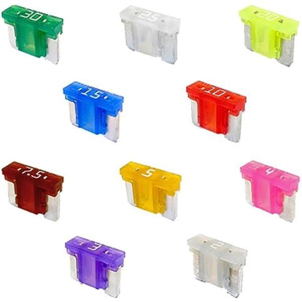 Set 10 X Flachstecksicherung Mini Sicherung Lp 58v Auto