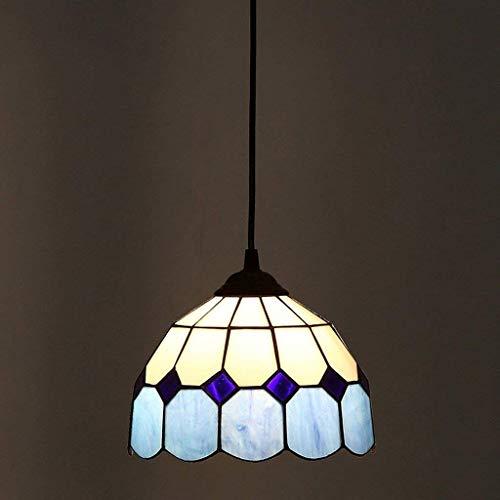 Moderne Mediterrane Kronleuchter (AG Haushalts-Kronleuchter, Café-Bar-Restaurant, dekoriert mit Kronleuchtern, Kontinentaler kreativer Gang-Balkon-Kronleuchter-warme Farbe-mediterrane Moderne Art und Weise einfache Deckenleuchte-Lamp)