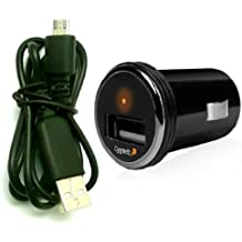 Cygnett Usb Cargador De Coche Para Wiko Cink Fire - Compacto 1 Amp Usb Car Charger + Micro Usb Sync / Transferencia De Datos Y Cable Cargador