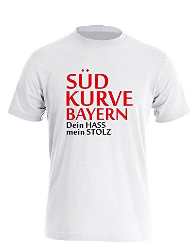 Südkurve Bayern - Herren T Shirt Weiß / Bunt