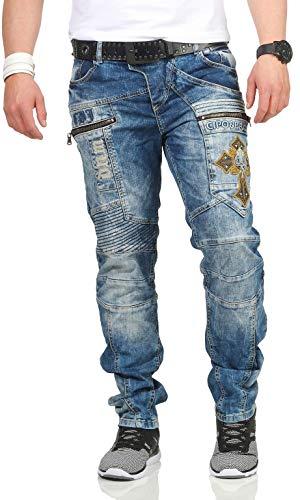 0ef5d13f7b6adb Cipo   Baxx - Jeans - Straight - Uomo Bundle mit Schwarzem Gürtel 32W ...