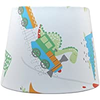 """Dinosaur Lampshade or Ceiling Light Shade 10"""" Boys Bedroom Nursery Accessories Girls kids Playroom Baby Toddler T Rex Dino Town Gifts"""