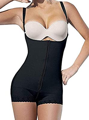 YIANNA Women Body Shaper Seamless Firm Control Shapewear Open Bust Bodysuit Slimmer