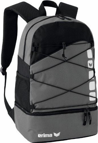 Erima 723344, backpack unisex-adulto, granito/nero, 1