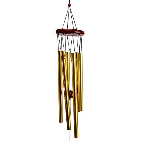 Oenbopo Windspiel Amazing Grace, 6 Metallrohre, klarer Klang, für Haus, Garten, Kapelle, Kirche, zum Aufhängen