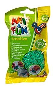 Simba 106374419 Art and Fun - Cuentas (1000 Unidades, en Bolsa), Color Verde