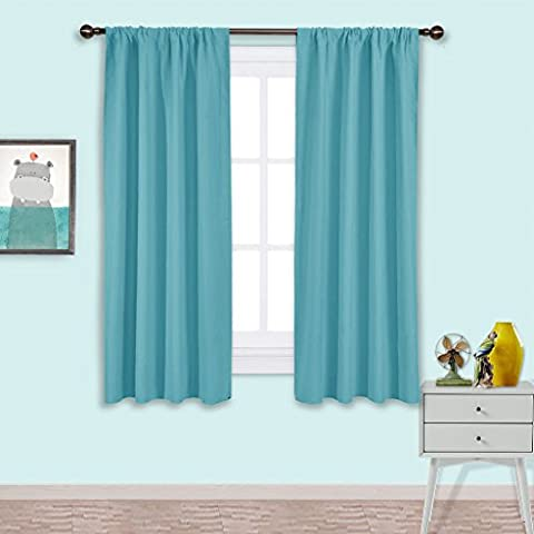 Blackout Curtains Panels Window Treatments - PONYDANCE Thermal Insulated Solid