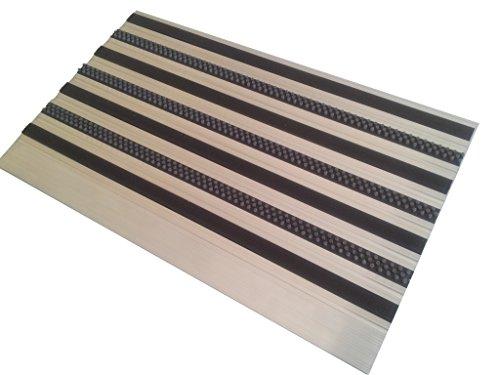 Aluminio Profesional Felpudo para sistema L45, tamaño 90x 54cm, para instalación en la parte superior, sin Alfombrilla así, incluyendo Rampa Perfil de 1lado.