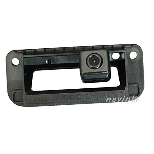 Kalakus Auto HD CCD Rückfahrkamera 170° Weitwinkel mit Radar Sensor Einparkhilfe Universal für NTSC, Schwarz für C-Class W204 C180 C200 C300 Car Back Up Rear View Reverse HD Universal Reverse-rückfahrkamera
