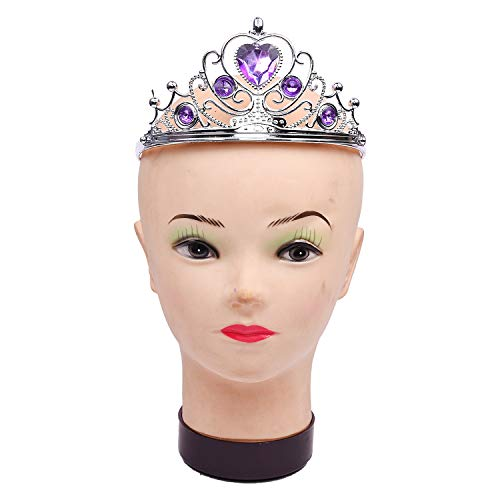 Party Butiko Party Crowns and Tiaras for Kids and Adults with a Purple Glitter or Rhinestone