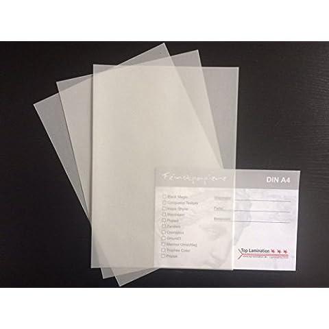 100hojas de papel DIN A3transparente blanco, 200g/m² de Top Lamination–Excelente traspaso, muy buena calidad, para invitaciones, tarjetas de visita, plantilla hojas para álbumes, tarjetas de boda, Póster, manualidades y mucho más