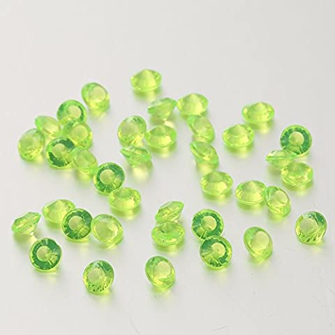5000Pcs 4.5Mm Acrylic Clear Faux Round Diamond Crystals Treasure Gems for Table Scatters, Vase Fillers, Event, Arts & Crafts, Birthday Favors, Wedding Decorations (LIGHT GREEN)