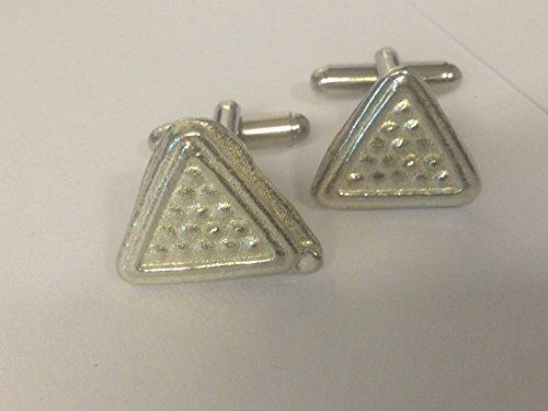 Snooker Dreieck tg408Paar Manschettenknöpfe aus feinem englischen Moderne Zinn geschrieben von uns Geschenke für alle 2016von Derbyshire UK