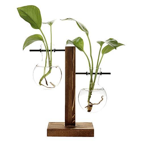 INFILM Vintage-Hydrokultur-Vase, hängende Glasvase, Waage Pflanzgefäß, Blumenvase, Schreibtisch-Vase aus Glas, Pflanzgefäß, Reagenzglas für Büro, Zuhause, Schreibtisch, Hochzeitsdekoration A2 (Büro Glas-schreibtisch)