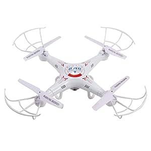 Ohuhu® OH-QC01 RC Quadricottero Elicottero Giroscopio 6-Assi 4 CH 2,4GHz, Drone Telecomandato con Videocamera 2MP, Sistema Headless, 2 Batterie, Bianco