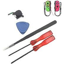 Meijunter Analog Joystick Rod Tools Set for Nintendo Switch Joy-Con, Replacement Analog Joystick Phillips Screwdriver Tweezer Pry Bars Tools Set