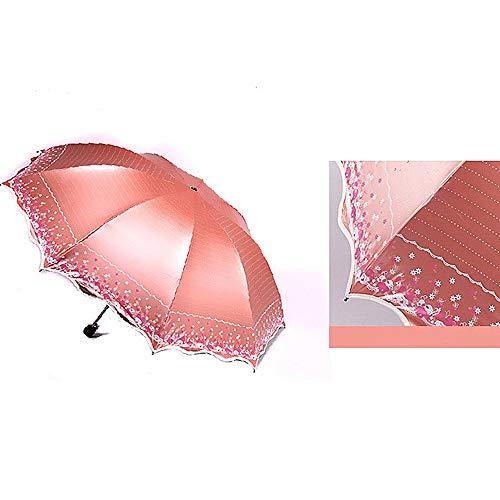 Crystallly Regenschirm Vinyl DREI Falten Sonnenschutz Dach 25 cm Handbuch 9 Einfacher Stil Knochen 400 G Uv Schutz Sonnig Regen Austausch Zwei Wasserdicht Regenschirme 9 Handbuch