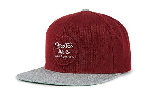 Burgund Skate (Brixton Wheeler Snapback Headwear, Burgund/GrauMelliert, One Size)