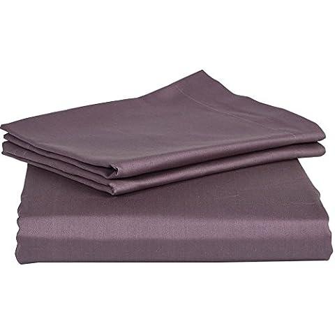 royallinens Gamma Elegante Finitura 3Lenzuolo in cotone egiziano 100%, Cotone, Lilac Solid, (Blemish Base)