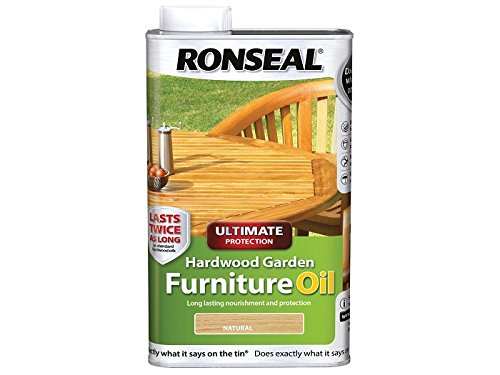Ronseal UHWGFOC1L 1 Litre Ultimate Protection Hardwood Garden Furniture Oil -Natural