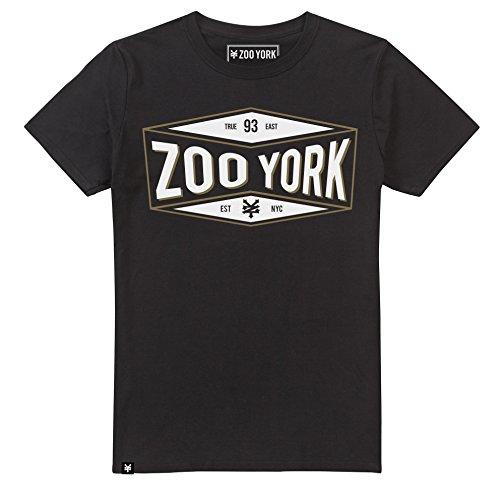Zoo York Herren Concave T-Shirt, Schwarz, L -