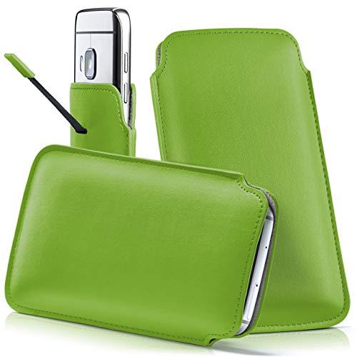 moex HTC One S9 | Hülle Grün Sleeve Slide Cover Ultra-Slim Schutzhülle Dünn Handyhülle für HTC One S9 Case Full Body Handytasche Kunst-Leder Tasche