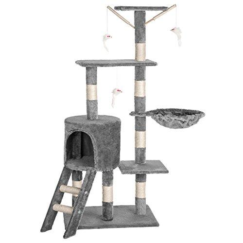 TecTake Kratzbaum Katzenbaum für Katzen mittelhoch grau