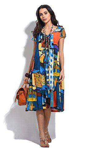 Bella blue Damen Kleid Mehrfarbig