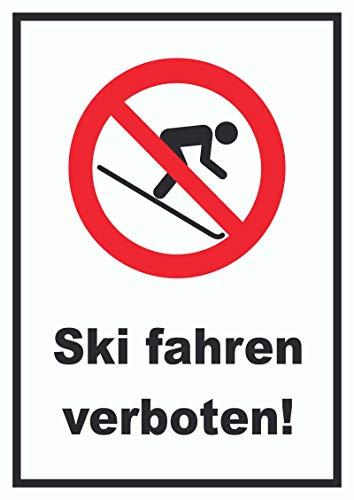 HB-Druck Ski Fahren verboten! Schild A0 Rückseite selbstklebend