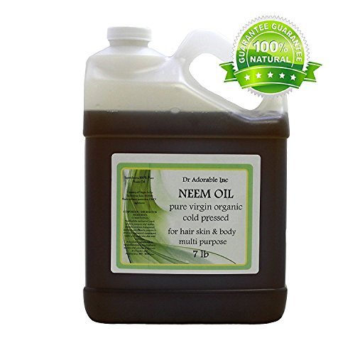 Neem Oil Organic Pure Cold Pressed by Dr. Adorable 128 fl. oz/1 Gallon/7 Lb