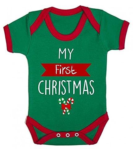 Bullshirt Baby Jungen (0-24 Monate) Body grün / rot 6-12 Monate