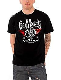 Gas Monkey Garage T Shirt Flying High Kustom Builds Logo Oficial de los Hombres
